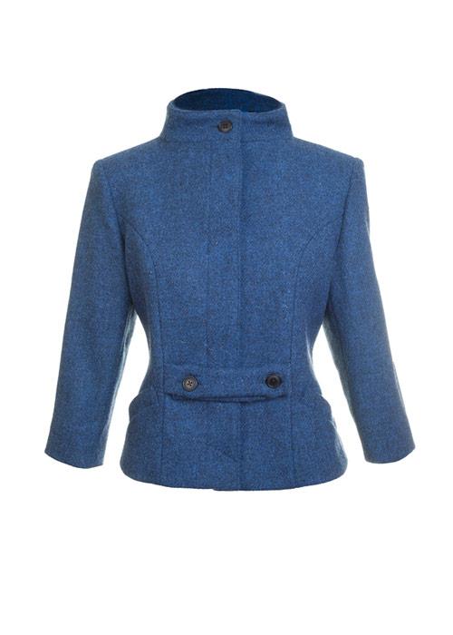 Bonnie Cropped Jacket Denim Blue Front
