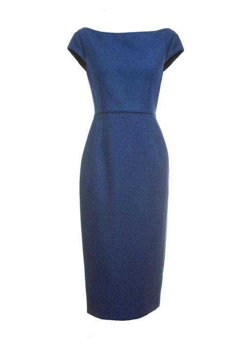 Muriel Dress Navy Front